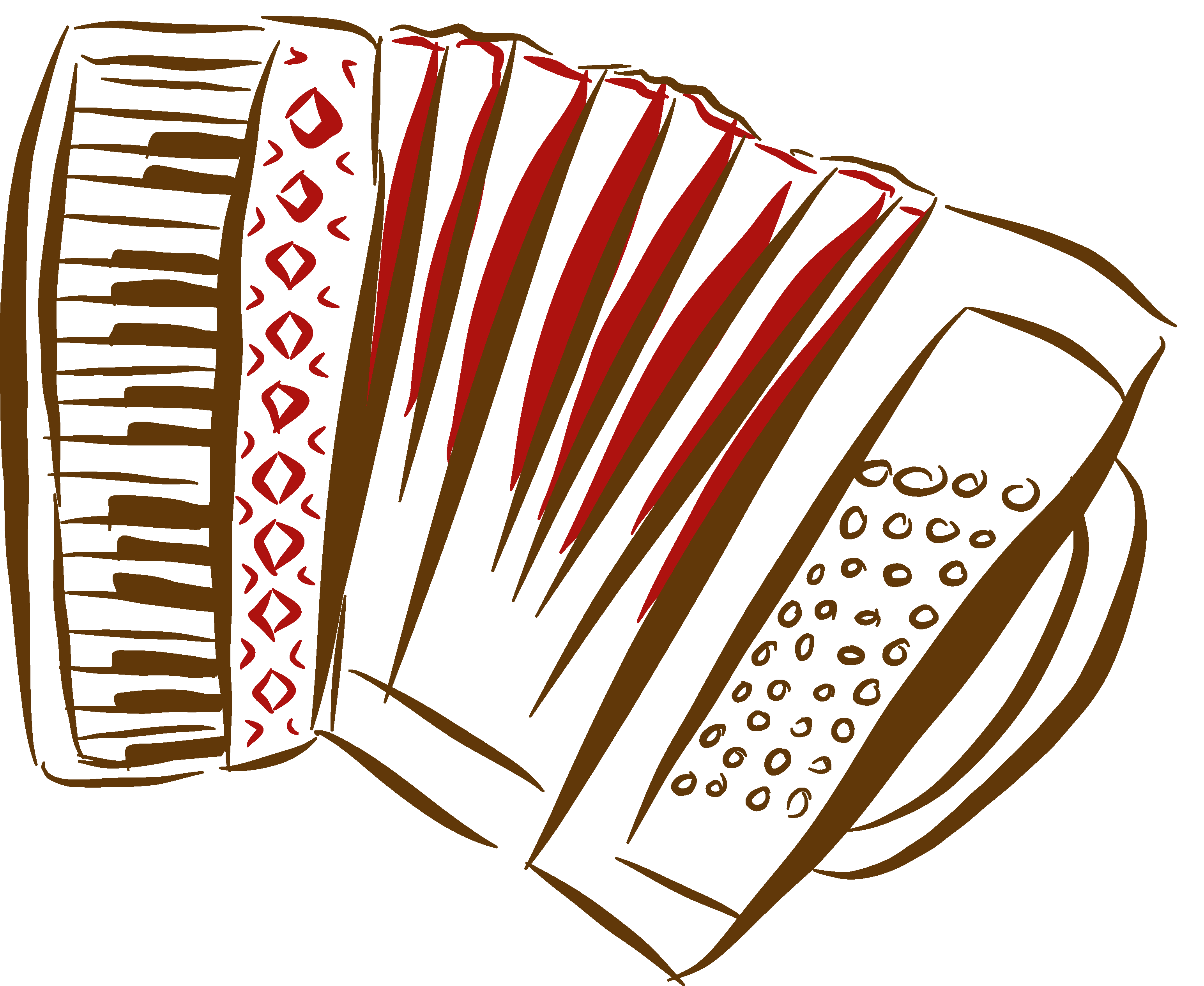Akkordeonspieler Dominik